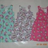 В наявності нові літні плаття сарафани h&m з єдинорожками розм. з 92 по 128