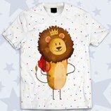 Детская футболка 3D Маленький лев Огромный выбор