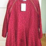 Mayoral платье из ажурного гипюра р.140 или 10 лет