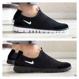 Мужские легкие кроссовки Nike Free Run, черные