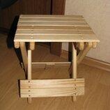 Идея использования раскладного деревянного табурета под электросушилку для фруктов и овощей