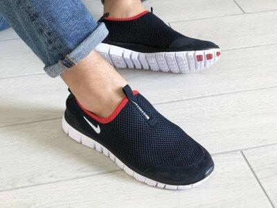 Мужские летние кроссовки найк Nike Free Run 3.0 синие