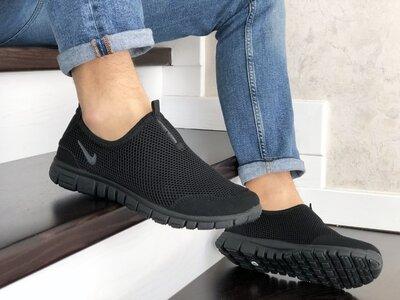 Мужские летние кроссовки найк Nike Free Run 3.0 черные