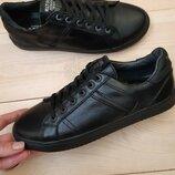 Мужские кожаные кеды Multi Shoes черные,красные