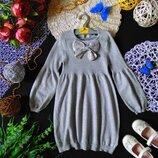 6-7лет.Нарядное серебристое платье Marks&Spencer.мега выбор обуви и одежды
