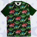Детская футболка 3D Цветные динозавры Огромный выбор
