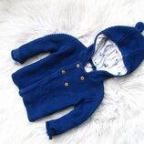 Стильная теплая кофта свитер реглан с капюшоном Marks & Spencer