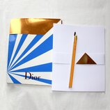 Папка Dior для эскизов и зарисовок 22 х 24,5 см с карандашом и кисточкой в подарок