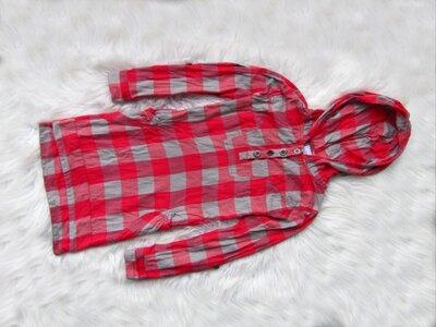 Качественная и стильная длинная рубашка туника с капюшоном Next
