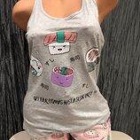 Пижама принт с суши Monamise
