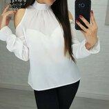 Блуза шифоновая с бантом Jardin