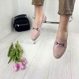 Кожаные женские туфли лоферы