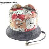 Детская панамка кепка хлопок 46 по 48 и 48 по 50 размер для мальчика детские