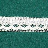 Узкое кружево Круглые зубчики с сеточкой , ширина 1,2 см, длина 6м