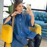 Стильное платье джинс две расцветки
