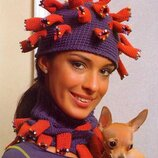 Свяжу шапку короновирус декоративный covid под заказ