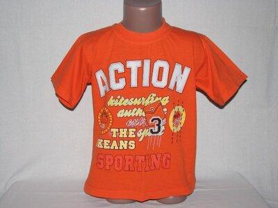Продано: Футболка оранжевая на лето на 7-8 лет р.116-122
