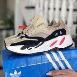 Стильные кроссовки Adidas x Yeezy Boost , кожа