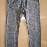 Брюки - джинсы в клетку