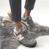 Кроссовки женские New Balance 574 gray, замш
