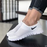 Кроссовки женские низкие Nike Free Run 3.0, белые