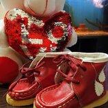 Кожаные демисезонные ботинки 11.5 см стелька