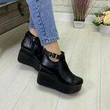 Женские туфли ботинки 36-41р Натур кожа