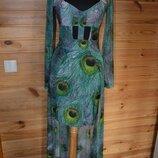 платье со шлейфом Жар птица