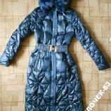Зимнее пальто длинное тинсулейт р.XS-S