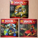 Комплект 3 героя Лего Нинзяго Ninjago Lele, цена за все вместе