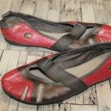 Кожаные туфли балетки clarks р 39-39.5 по стельке 25.5 см