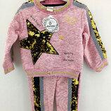 Детский костюм байка 3 4 5 и 6 лет розовый детские костюмы с рисунком утеплённый