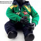 Детский костюм байка 1 год зеленый детские костюмы с рисунком утеплённый теплый