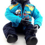 Детский костюм байка 1 год синий детские костюмы с рисунком утеплённый теплый
