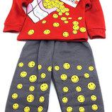 Детский костюм байка 1 и 2 года красный детские костюмы с рисунком утеплённый