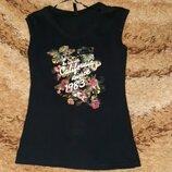 Женская летняя футболка безрукавка майка