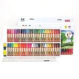 Набор пастель масляная 48 цв рисование творчество краска фарба карандаши масло холст бумага кисти ак