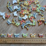 Декоративные пуговицы бабочка