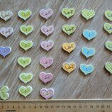Декоративные пуговицы сердечки