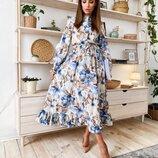Нежное красивое платье три расцветки