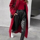 Женские стильные кожаные брюки