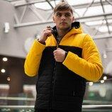 Демисезонная Куртка Temp бренда Intruder желтая - черная