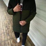 Демисезонная Куртка Fusion бренда Intruder черная - хаки