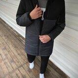 Демисезонная Куртка Fusion бренда Intruder черная - серая