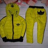 Крутанский зимний комплект на пуху под Adidas на 3-5 лет