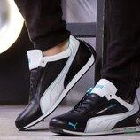Мужские кожаные кроссовки Puma MotorSport черные