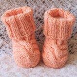 Нежные персиковые носочки baby wool