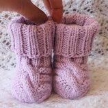 Нежные сиреневые носочки baby wool