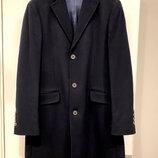 Мужское пальто Massimo Dutti, оригинал, шерсть, цвет - темно синий.