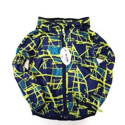 Демисезонная детская куртка ветровка для мальчика абстракция 4-5 лет 8803-2